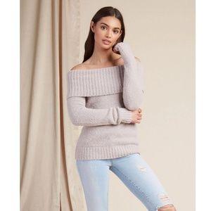 Lovers + Friends Off Shoulder Luna Sweater Heather